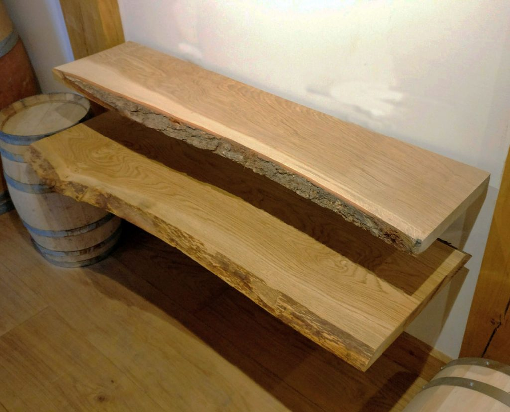 Solid Oak Kiln Dried Shelving