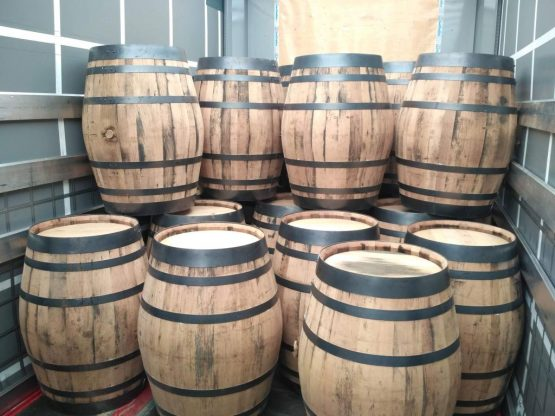 Refurbished Oak Whiskey Barrels for Brewering and Re-Use, Distilling, Ageing, Souring