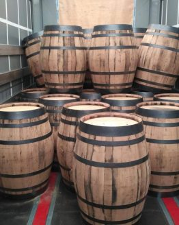 Refurbished Oak Whiskey Barrels for Brewering and Re-Use