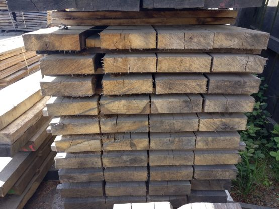 10 x 3 Hardwood Oak Rrailway Sleepers