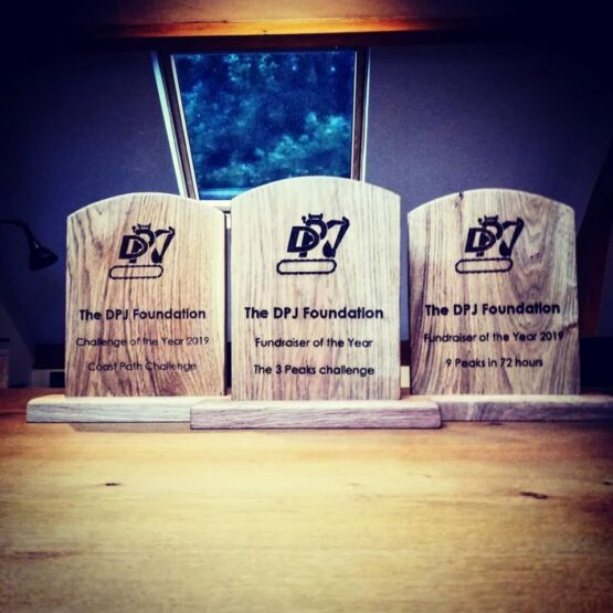 DPJ Foundation Solid Oak Award Trophies