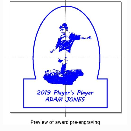 Solid Oak Sports Awards and Trophies Personalised Engraved with Football and Actual Image