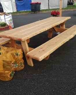 Larch Outdoor Picnic Table Custom Sizes