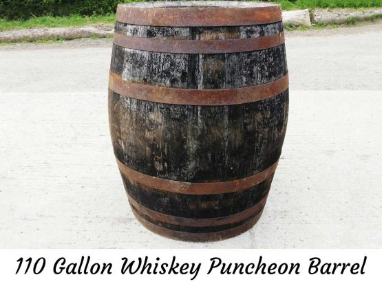 110 Gallon Whiskey Puncheon Barrel Ice Bath