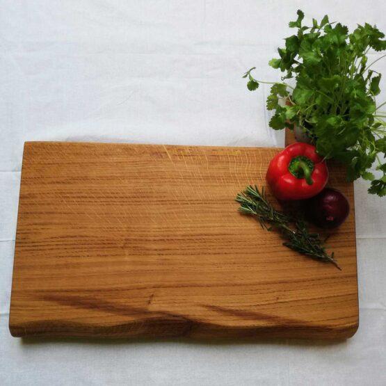 James Martin Style Live Edge Chopping Board Chunky Oak