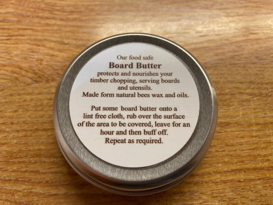 Food safe protective board butter wax